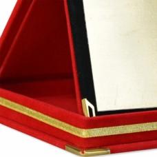 Kadife Kutulu Plaket Sırmalı Kırmızı Plaket 15x20cm